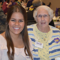 Victoria Hanan Roller with scholarship recipient, Mary Kluesner